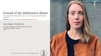 "Permalink to: Doctoral thesis from SCANPUB: Ida Andersen's ""Instead of the deliberative debate"""